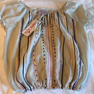 NWT Girl's size 8 sheer summer top.